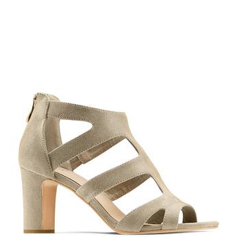 Women's shoes insolia, Jaune, 729-8165 - 13