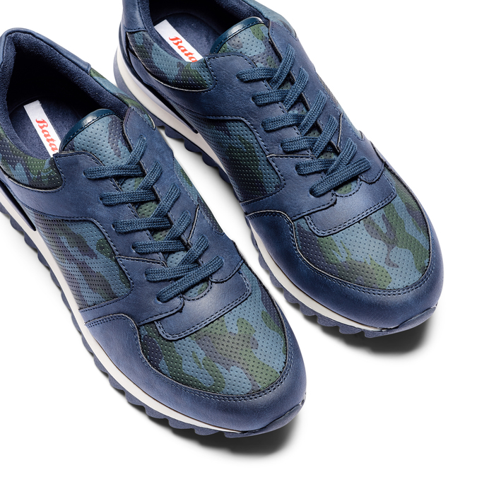 Men's shoes bata, Bleu, 841-9479 - 26