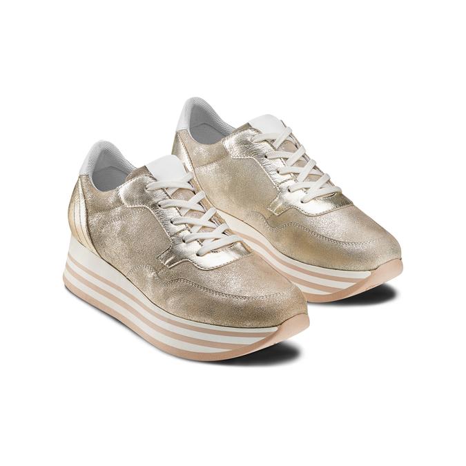 BATA Chaussures Femme bata, Or, 644-8102 - 16