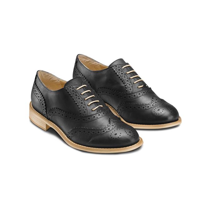 Chaussure Oxford en cuir femme bata, Noir, 524-6482 - 16