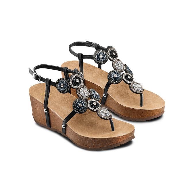 BATA Chaussures Femme bata, Noir, 661-6357 - 16