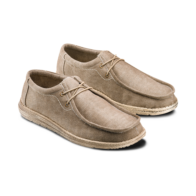 Men's shoes bata, Beige, 859-2280 - 16