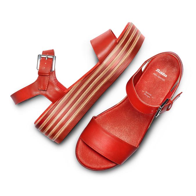 BATA Chaussures Femme bata, Rouge, 761-5670 - 26