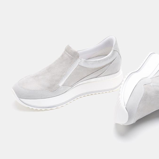 Chaussures Femme bata, Argent, 633-1102 - 19