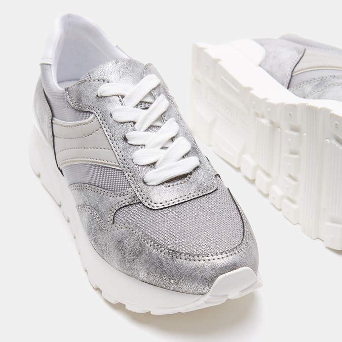 Chaussures Femme bata, Argent, 541-2574 - 19