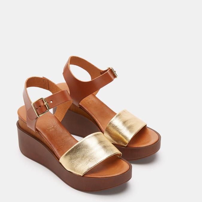 Chaussures Femme bata, Or, 764-8751 - 16