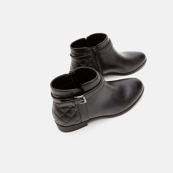 Bottines hautes bata, Noir, 591-6767 - 15