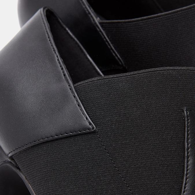 Bottines de type tronchetto sur talon large bata, Noir, 791-6194 - 26