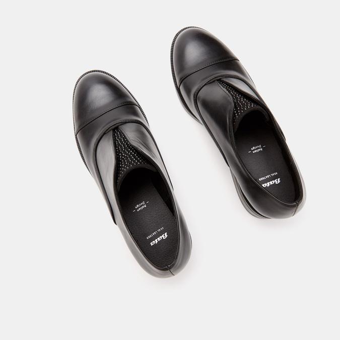 Chaussures Derby sans lacets bata, Noir, 511-6171 - 15