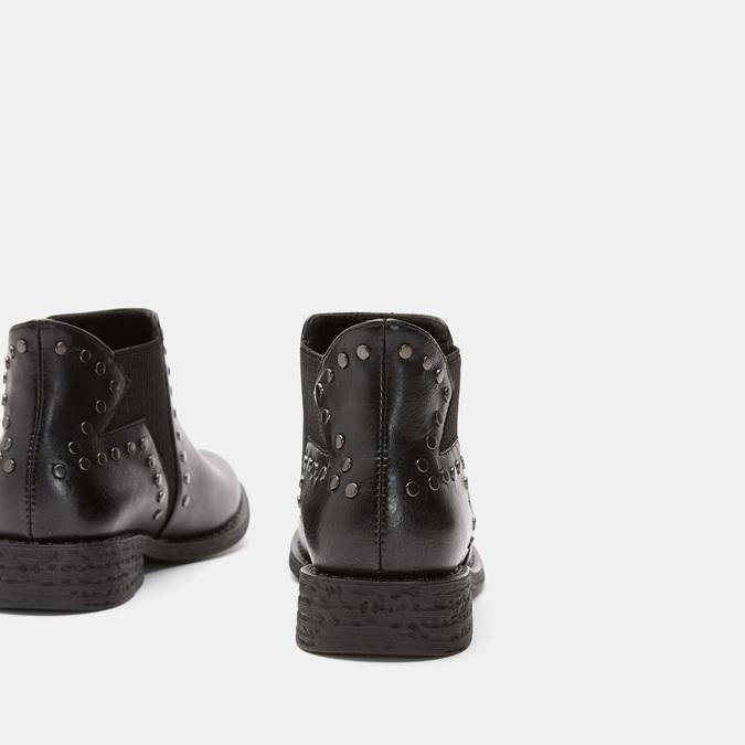 Bottines décorées de clous bata, Noir, 591-6360 - 17