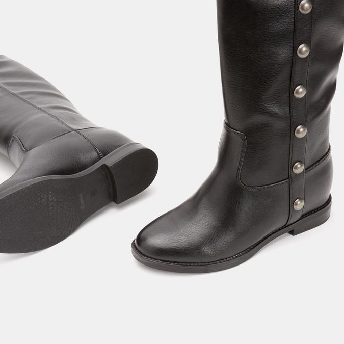 Bottes avec des maxi clous bata, Noir, 591-6108 - 17