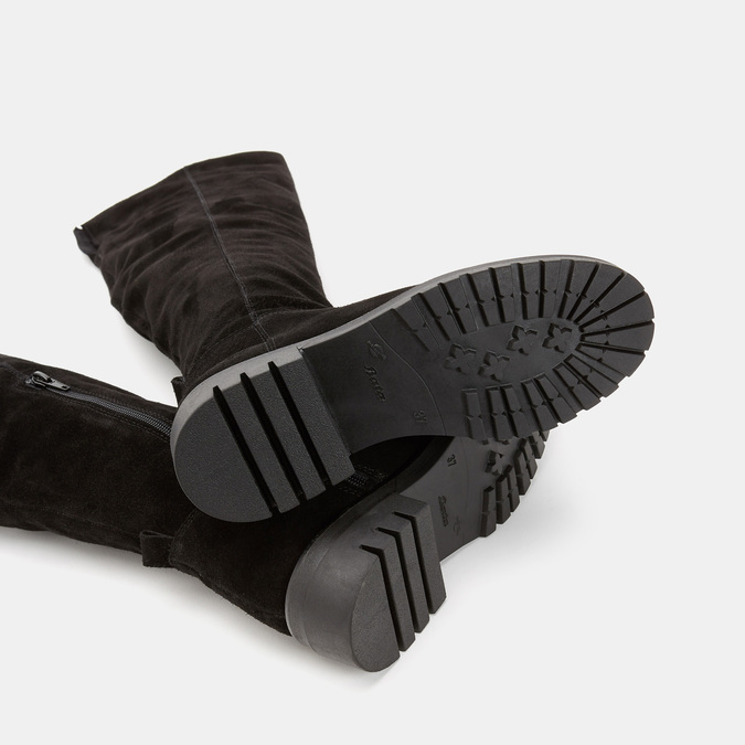 Cuissardes en suédine bata, Noir, 593-6509 - 17