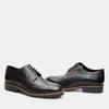 chaussures basses en cuir à surpiqûre brogue bata, Noir, 824-6133 - 26