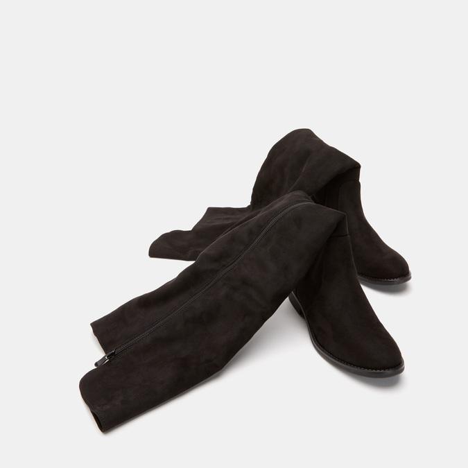 Cuissardes en suédine bata, Noir, 599-6857 - 15