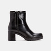 Bottines en cuir de type tronchetto sur talon large bata, Noir, 794-6751 - 13