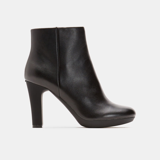 Bottines en cuir de type tronchetto insolia, Noir, 794-6675 - 13