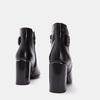 Bottines en cuir de type tronchetto sur talon large bata, Noir, 794-6731 - 15