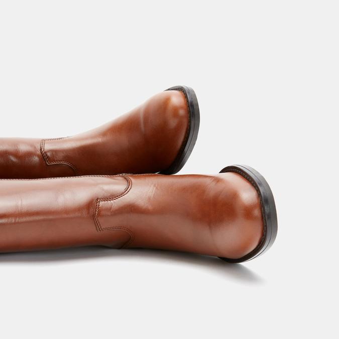 Bottes en cuir véritable bata, Brun, 594-3308 - 15