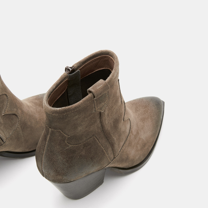 Bottes texanes en suédine bata, Brun, 793-4587 - 15