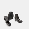 Bottines en cuir bata, Noir, 694-6501 - 19