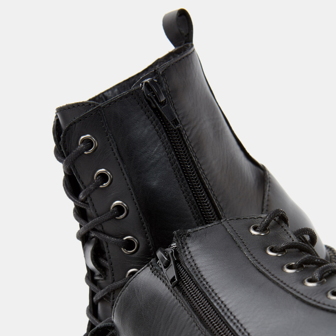 Bottines en cuir bata, Noir, 594-6383 - 19