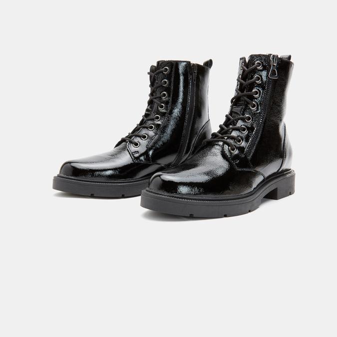 bottines en cuir vernis femme bata, Noir, 598-6107 - 16