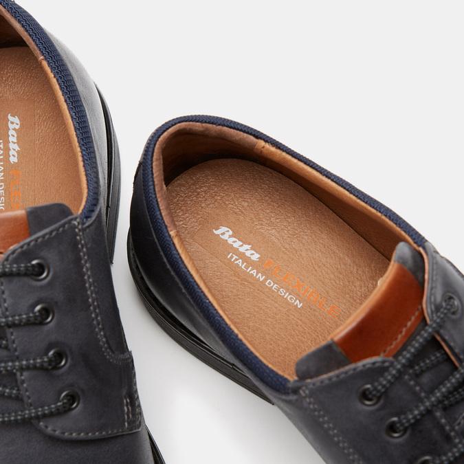 Chaussures à lacets homme flexible, Bleu, 824-9780 - 15