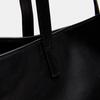 Cabas en cuir bata, Noir, 964-6211 - 26