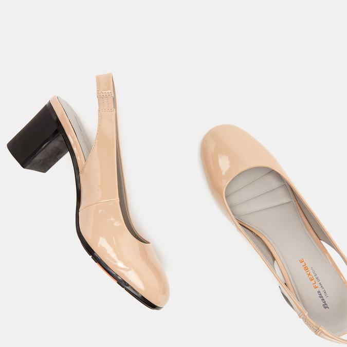 Sandales à talons ouverts et bout arrondi flexible, Rouge, 621-5241 - 19