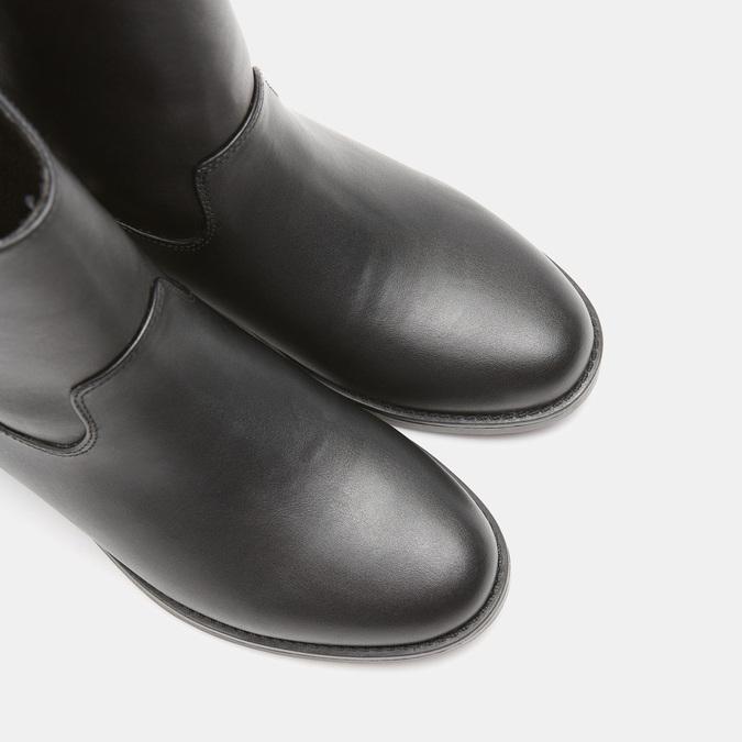 Bottines à semelle compensée intérieure bata, Noir, 591-6256 - 17