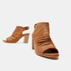 Sandales à dessus perforé bata, Brun, 761-3267 - 19