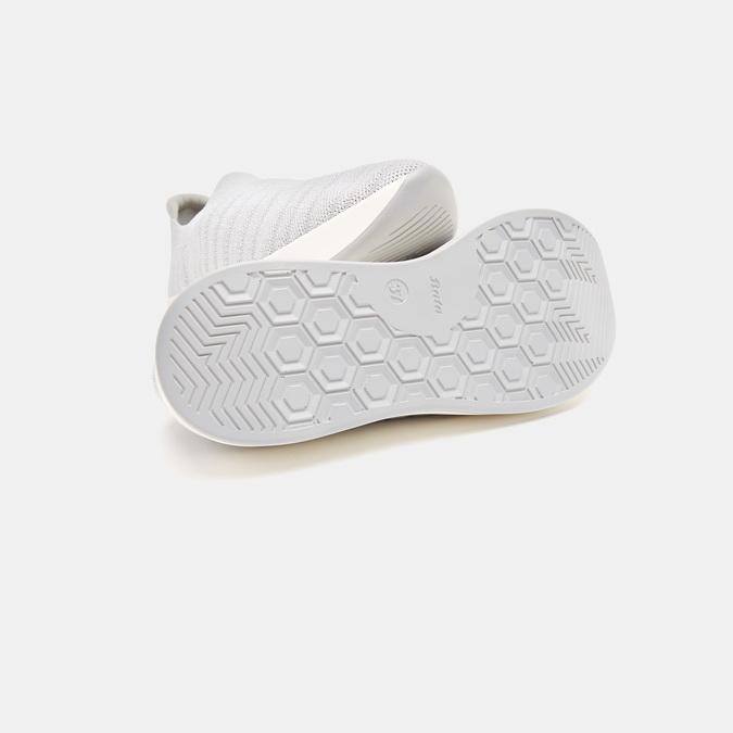 Baskets Knit femme bata, Gris, 539-2115 - 15