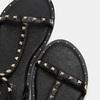 Sandales cloutées bata, Noir, 561-6838 - 19