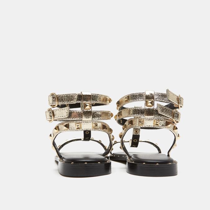 Sandales cloutées bata, Or, 561-8838 - 15