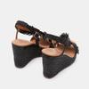 Sandales compensées bata, Noir, 769-6777 - 16