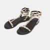 Sandales cloutées bata, Or, 561-8838 - 26