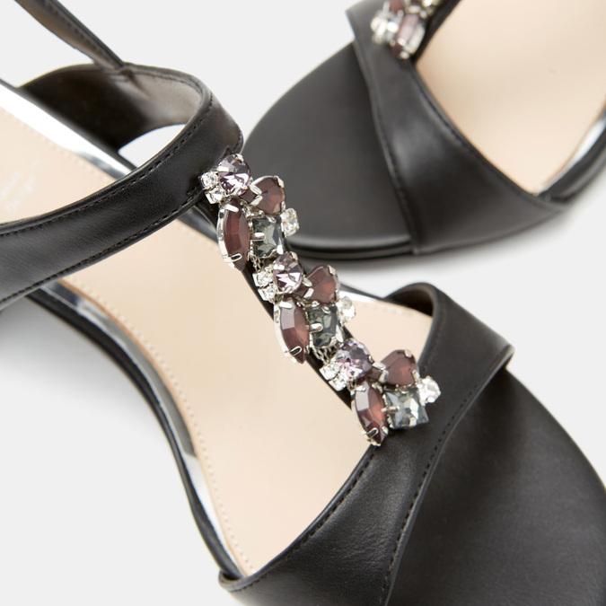 Sandales à talon large bata, Noir, 761-6856 - 15