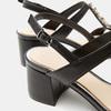 Sandales à talon large bata, Noir, 761-6856 - 16