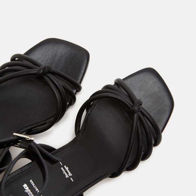 Sandales à demi-talon et à bride autour de la cheville bata, Noir, 761-6884 - 17
