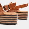 Sandales à plateforme bata, Brun, 761-4886 - 15