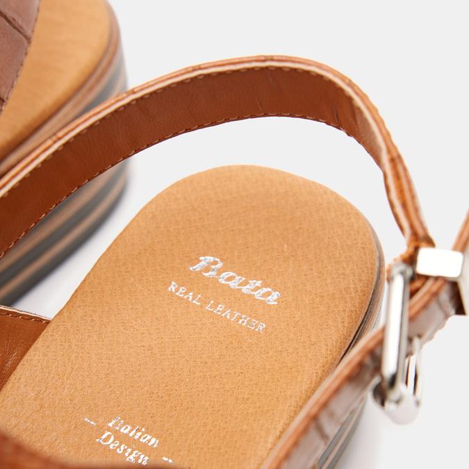 Sandales à plateforme bata, Brun, 761-4886 - 17