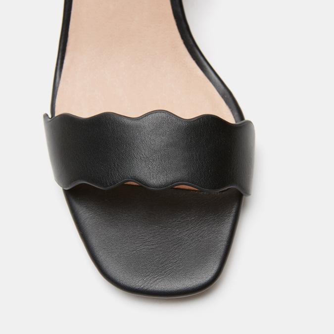 Sandales à talon large bata, Noir, 761-6872 - 26