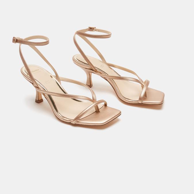 Sandales à talon bata, Rose, 661-5497 - 26