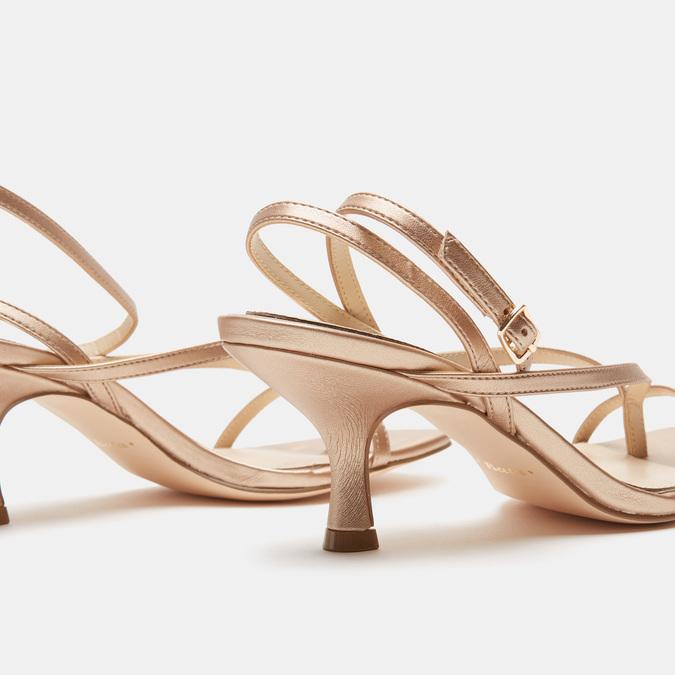 Sandales à talon bata, Rose, 661-5497 - 15