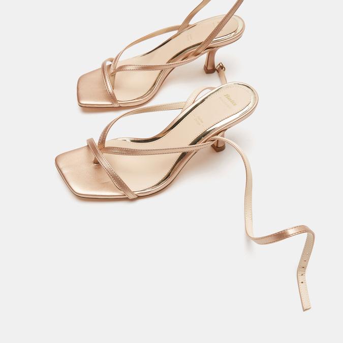 Sandales à talon bata, Rose, 661-5497 - 19