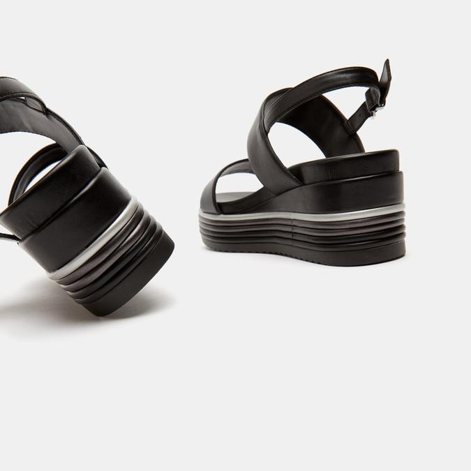 Sandales à plateforme bata, Noir, 761-6885 - 19