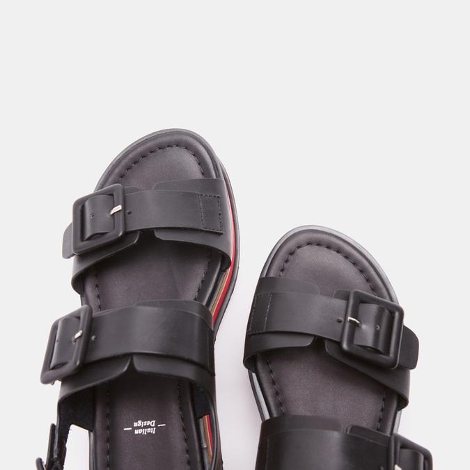 Sandales femme à plateforme bata, Noir, 661-6491 - 17
