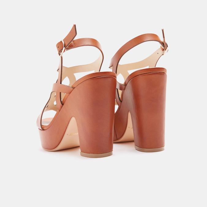 Sandales à talon large bata, Brun, 761-3850 - 15