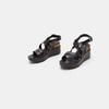 Sandales compensées bata, Noir, 764-6985 - 16