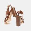 Sandales à talon large bata, Brun, 761-4849 - 15